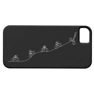 Bicyclist going over the hill iPhone 5 case