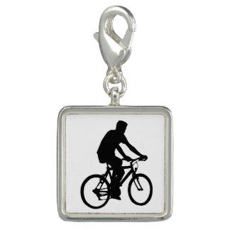 Bicyclist Silhouette Charm