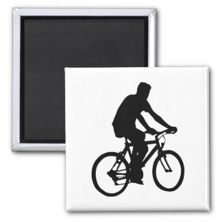 Bicyclist Silhouette Magnet