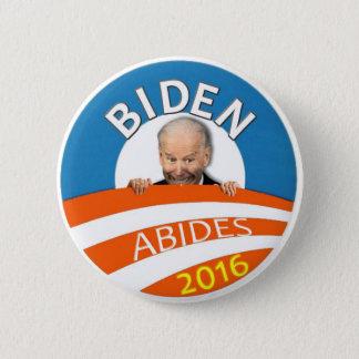 Biden Abides 2016 2 Inch Round Button