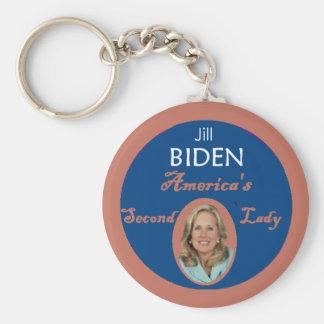 Biden Second Lady Keychain