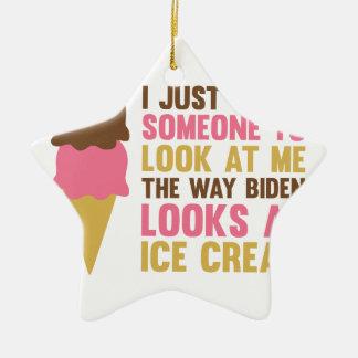Bidens Ice Cream Ceramic Ornament