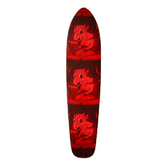 BIDI ALIEN DEVIL CARTOON Skateboard 7 1/8""
