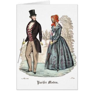 Biedermeier Fashion Illustration Card