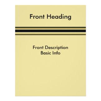 biege yellow lines custom flyer