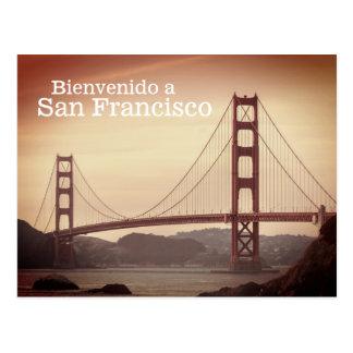 Bienvenido a San Francisco Postcard