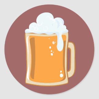 Bier beer classic round sticker
