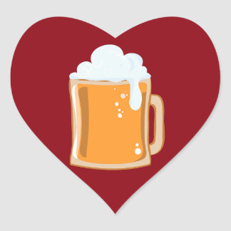 Bier beer heart sticker