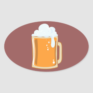 Bier beer oval sticker