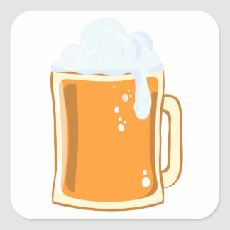 Bier beer square sticker