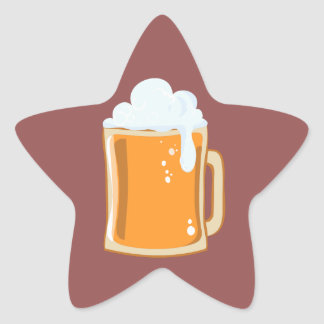 Bier beer star sticker