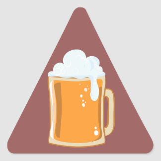 Bier beer triangle sticker
