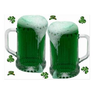 Bière de vert du jour de St Patrick Cartes Postales
