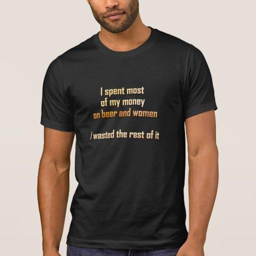 Bière et femmes t-shirts