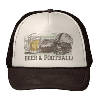 Bière et le football par des studios de Mudge Casquette
