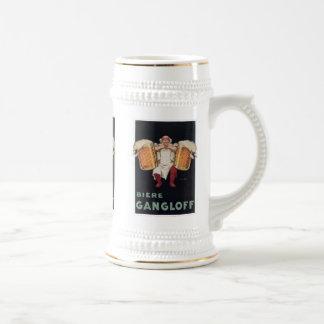 Biere Gangloff 2 Vintage Beer Ad Mugs, Steins