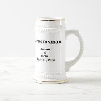 Bière l épousant faite sur commande Stein de Groom Mug À Café