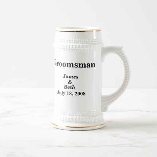 Bière l'épousant faite sur commande Stein de Groom Mug À Café