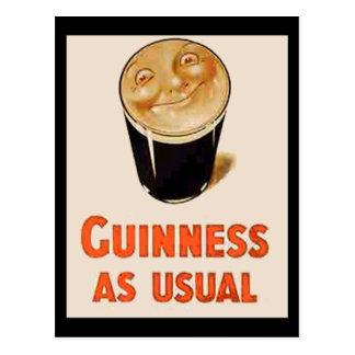 Bière noire irlandaise carte postale