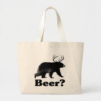 Bière ? sac en toile jumbo