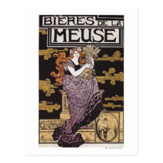 Bieres de la Meuse Promotional Poster Postcard