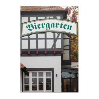 Biergarten Sign, Germany Acrylic Wall Art