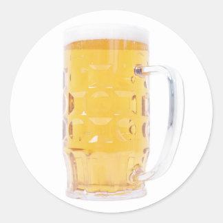 Bierkrug beer mug classic round sticker