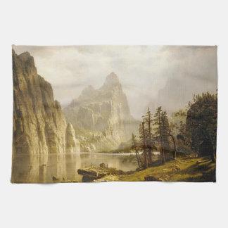 Bierstadt Albert Merced River Yosemite Valley Kitchen Towel