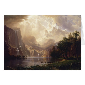 Bierstadt Among the Sierra Nevada Mountains Card