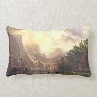 Bierstadt Deer Lake Waterfalls Sierra Throw Pillow