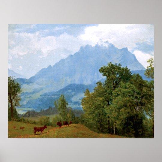 Bierstadt - Mount Pilatus Poster