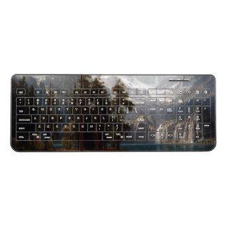Bierstadt Sierras Mountains Lake Wireless Keyboard