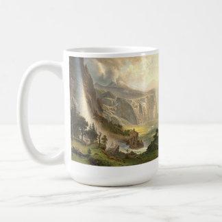 Bierstadt Waterfalls Yosemite Panorama Mug