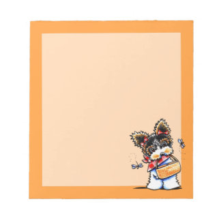 Biewer Yorkie Picnic Time Notepad