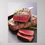 Bifteck de boeuf affiche