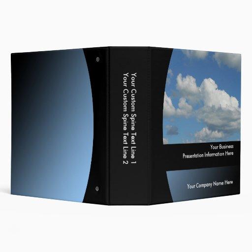 "Big2"" Blue Sky Custom Business Presentation Binder"