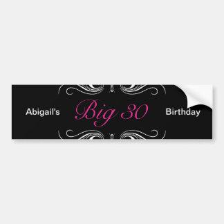 Big 30 bumper sticker