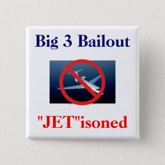 "Big 3 - ""Jet""isoned 2 Inch Square Button"