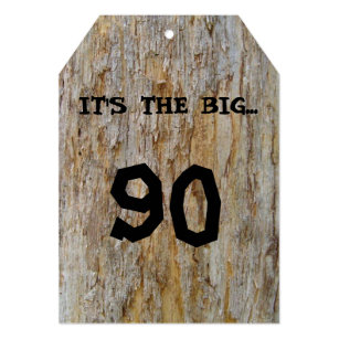Big 90 Birthday Invitation