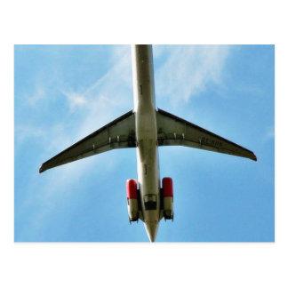 Big Airplane Take Off Postcard