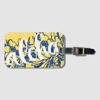 Big Aloha Blue Yellow Cereus Flowers Luggage Tags