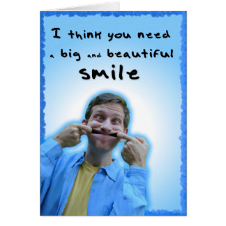 Big and Beautiful Smile card