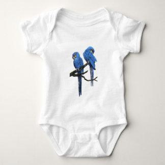 Big and blue Hyacinth Macaws Baby Bodysuit