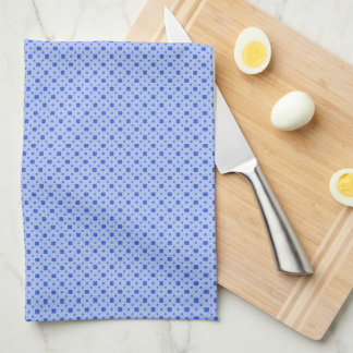 Big and Little Blue Squares Kitchen Towel