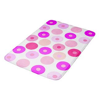 Big and small pink polka dots bath mat