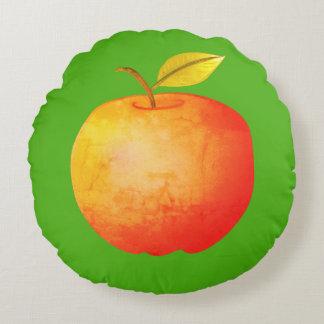 Big Apple Cartoon Vibrant Fruit Artistic Bright Round Pillow