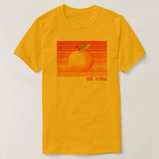 Big Apple Cartoon Vibrant Fruit Artistic Stripes T-Shirt