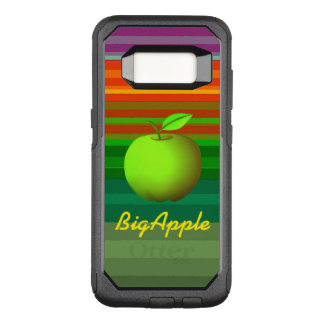 Big Apple Green Neon Modern Stripes Vibrant Cool OtterBox Commuter Samsung Galaxy S8 Case