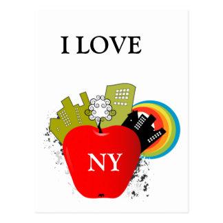 Big Apple New York Postcard