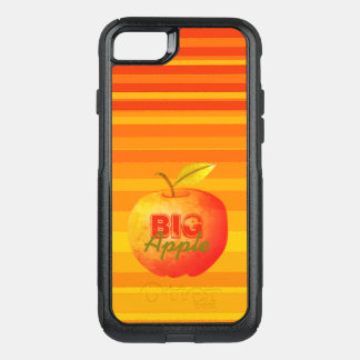 Big Apple Orange Bright Vibrant Stripes Retro Cool OtterBox Commuter iPhone 8/7 Case